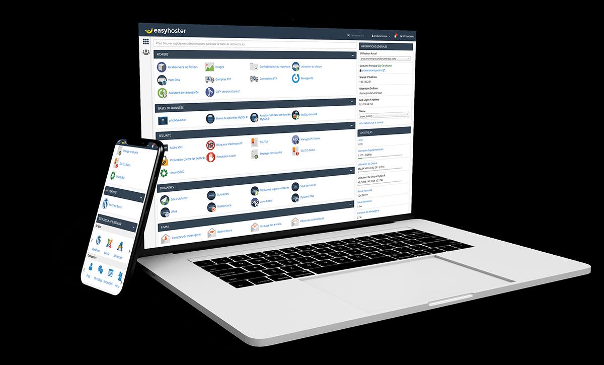 Comparatifs des offres d'hébergement Web Premium (tarifs) et prix création de sites clés en main EasyHoster
