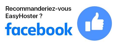 Avis EasyHoster sur Facebook